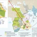 carte de l'Afrique et de l'Océan Indien zones militarisées