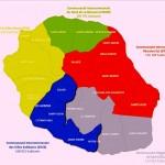 carte de La Réunion réseau transports car jaune