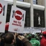 manif contre l'austerité économie social