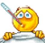 emoticone Malade-thermomètre