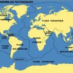 Monde carte tectonique